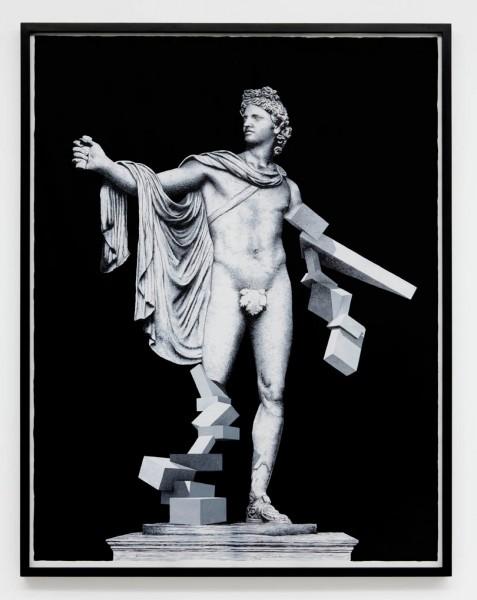 Daniel Arsham, Man, 2010 - d'après l'Apollon du Belvédère, vers 330 av. J.-C. © galerie Perrotin
