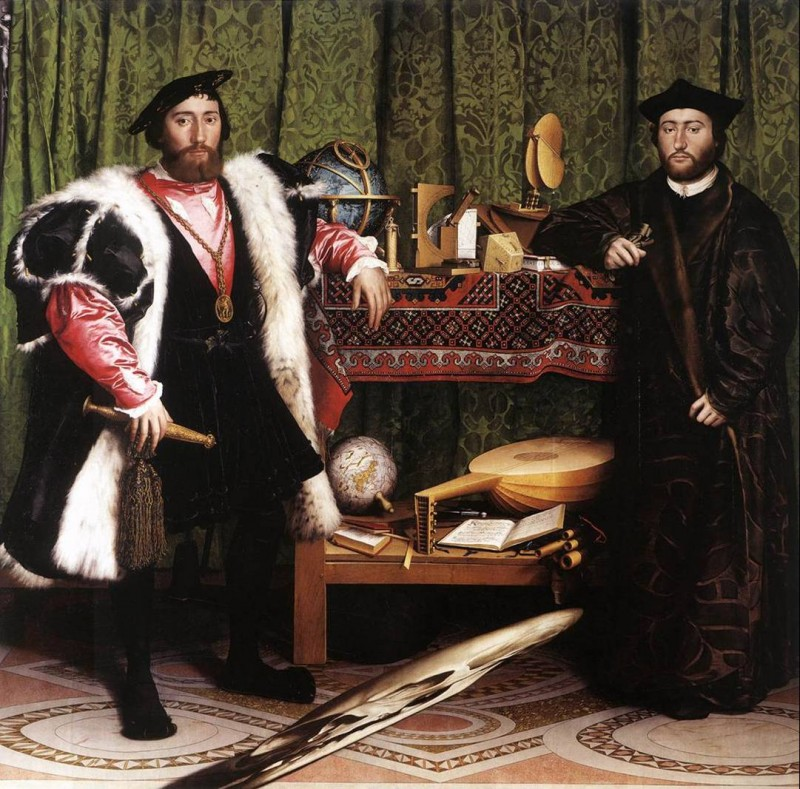 Hans Holbein le Jeune, Les Ambassadeurs, 1533, Londres, The National Gallery