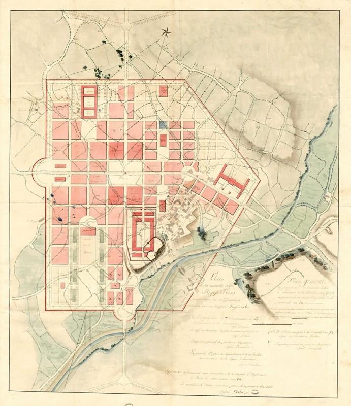 Plan du projet de ville nouvelle à La Roche-sur-Yon, collection des Archives nationales