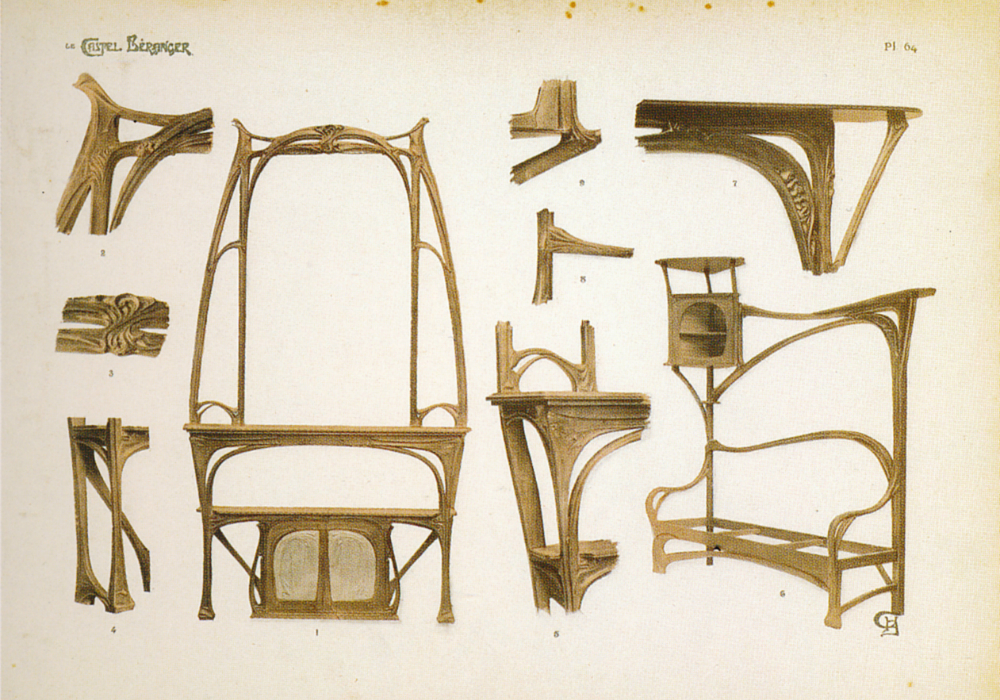 Du japonisme hector guimard l influence des arts for Mobilier japonais paris